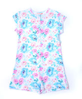 S4709 Girls Floral Blue Onsie