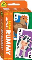 School Zone Farm Animal Rummy Flash Card Game