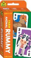 School Zone Farm Animal Rummy Flash Card Game