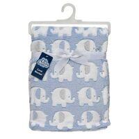 Snugtime Coral Fleece Blanket - Blue Elephant