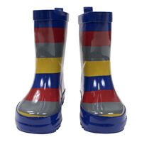 Striped Rain Boot- Boys