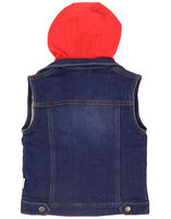 Sunny Boy Hooded Denim Vest