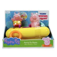 TOMY Toomies Peppa Pig - Peppa Pull & Go Pedalo