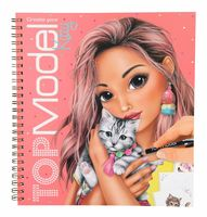 TopModel Create Your Kitty Colouring Book